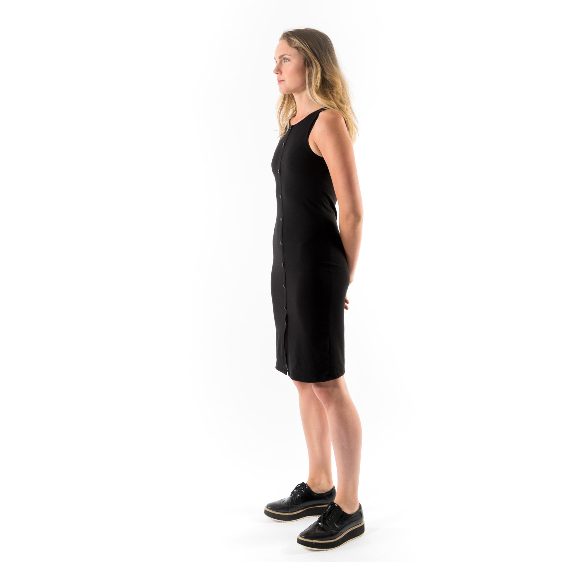 Kim Sassen Clothing Anna Dress Black Front Side