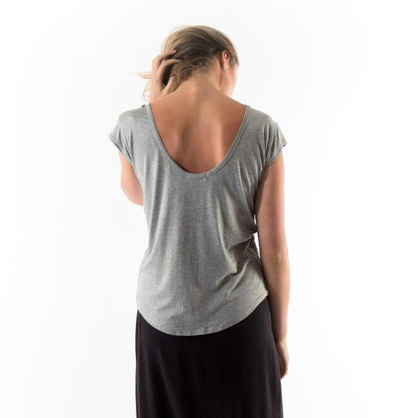 Kim Sassen Clothing Back to Front T-Shirt Grey Back Close