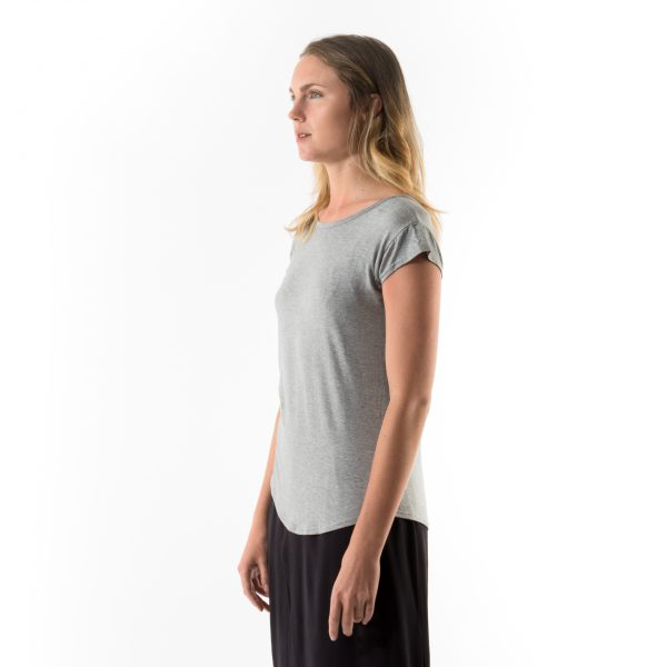 Kim Sassen Clothing Back to Front T-Shirt Grey Front Side Close