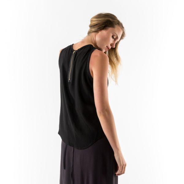 Kim Sassen Clothing Binding Top Black Back Close