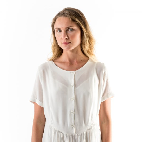 Kim Sassen Clothing Farm Girl Dress White Front Full
