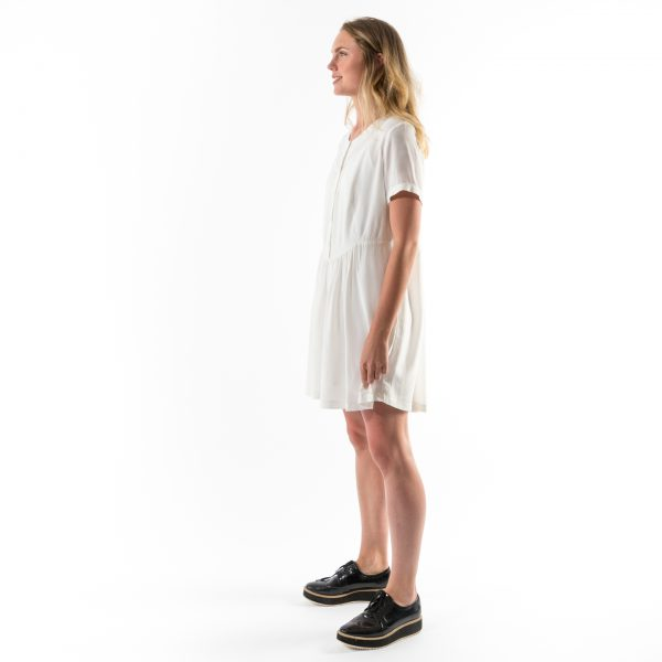 Kim Sassen Clothing Farm Girl Dress White Front Side Full