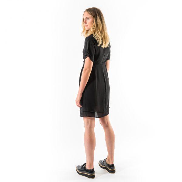 Kim Sassen Clothing George Dress Black Back Side