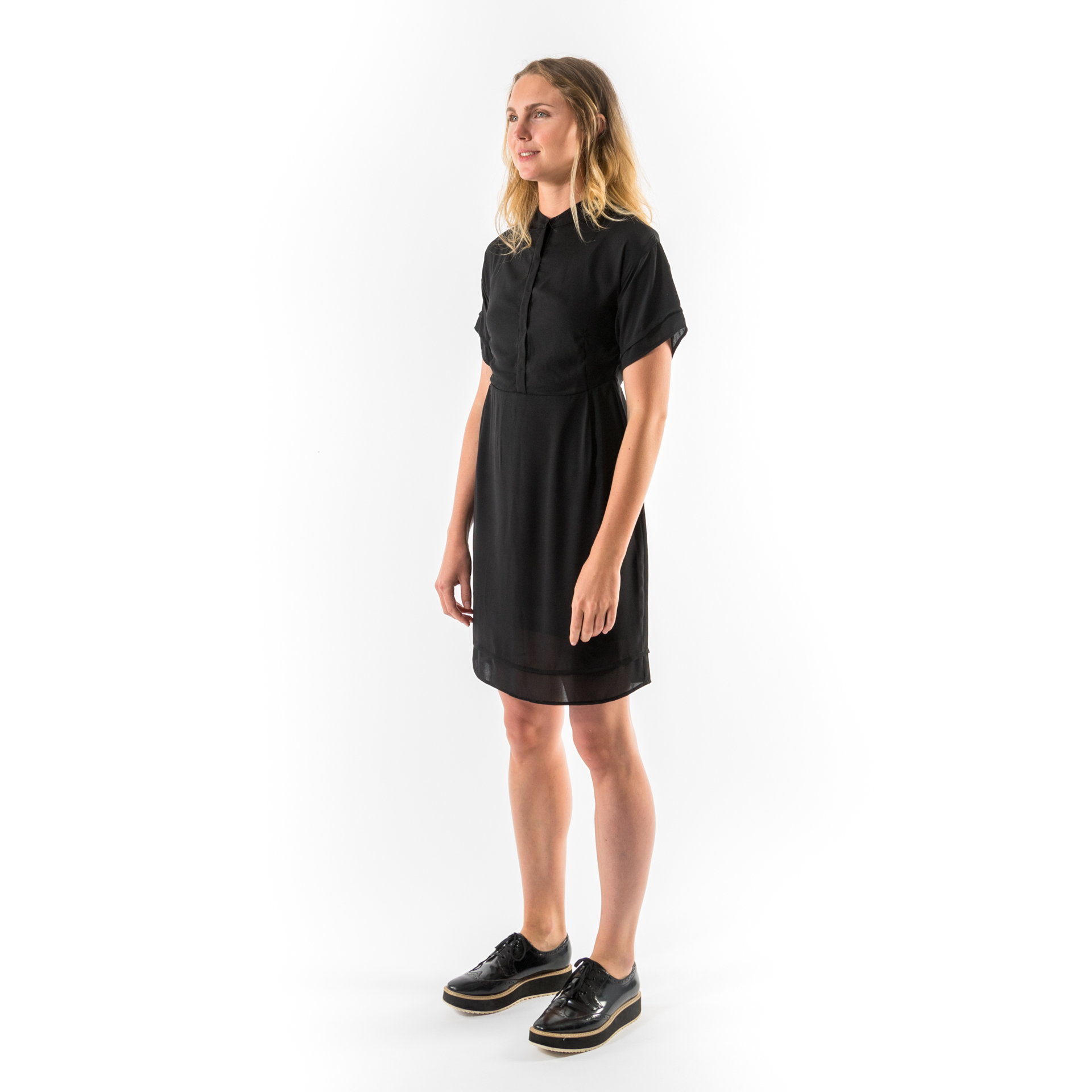 Kim Sassen Clothing George Dress Black Front Side