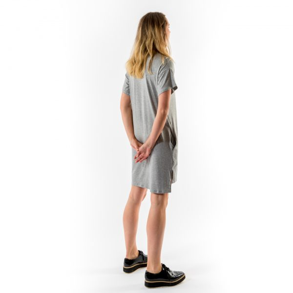 Kim Sassen Clothing T-Shirt Dress Grey Back Side