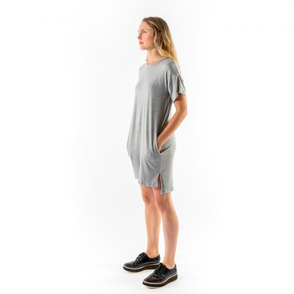 Kim Sassen Clothing T-Shirt Dress Grey Front Side