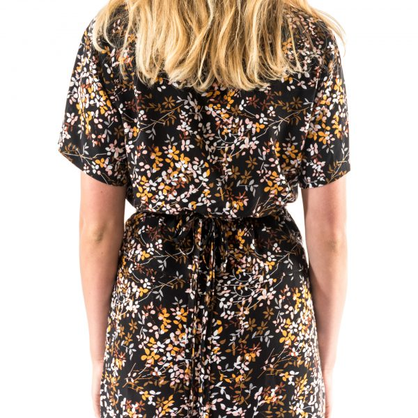 Kim Sassen Clothing Wrap Dress Print Back Mid Close