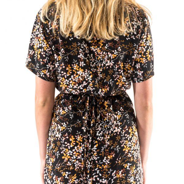 Kim Sassen Clothing Wrap Dress Print Back Mid Close
