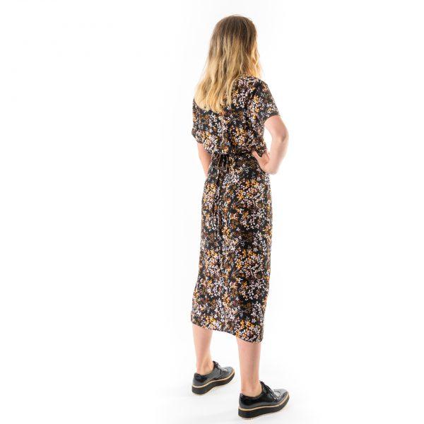 Kim Sassen Clothing Wrap Dress Print Back Side