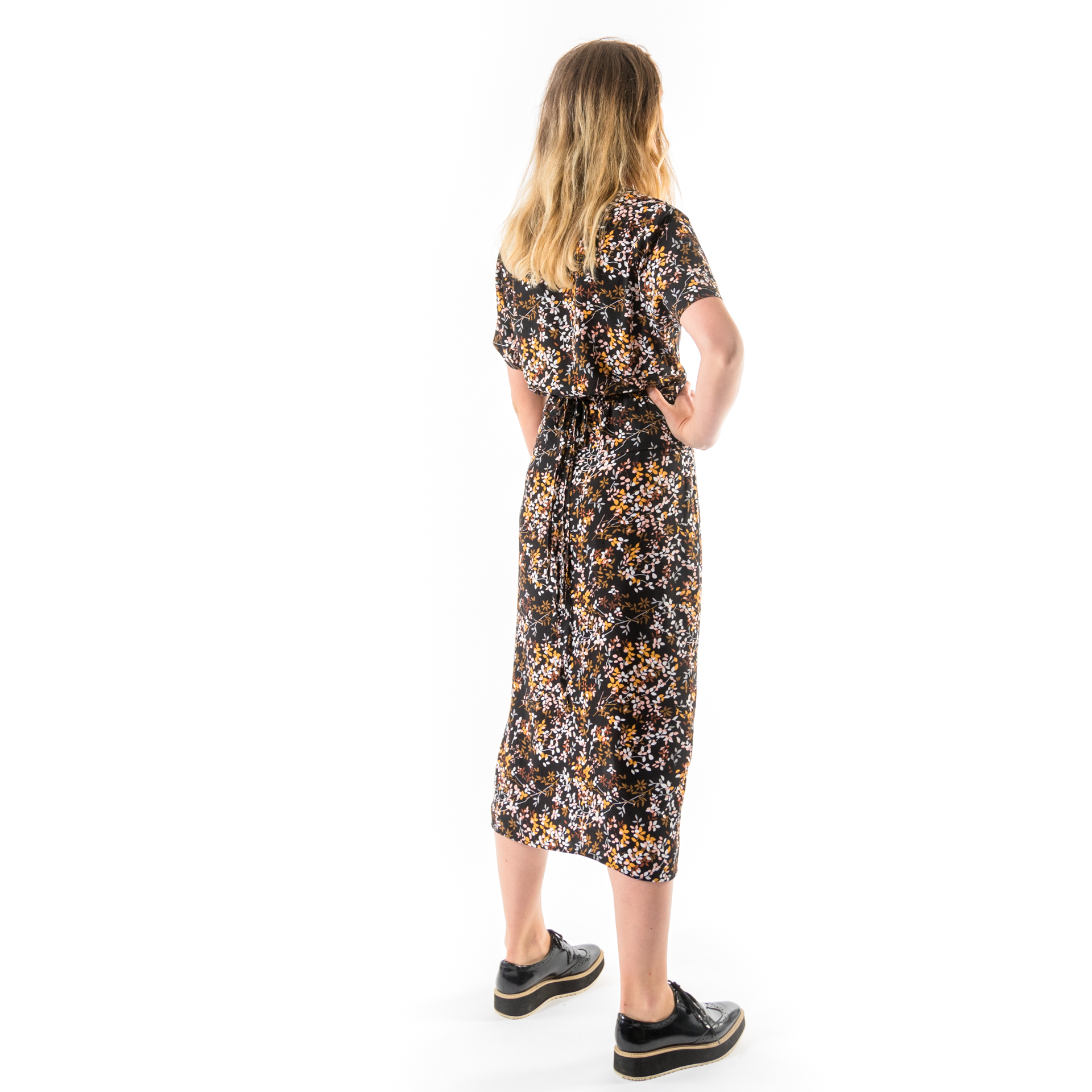 Kim Sassen Clothing Wrap Dress Print Back Side