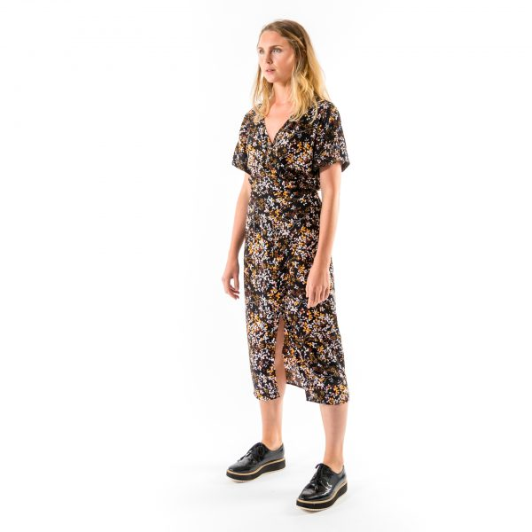 Kim Sassen Clothing Wrap Dress Print Front Side