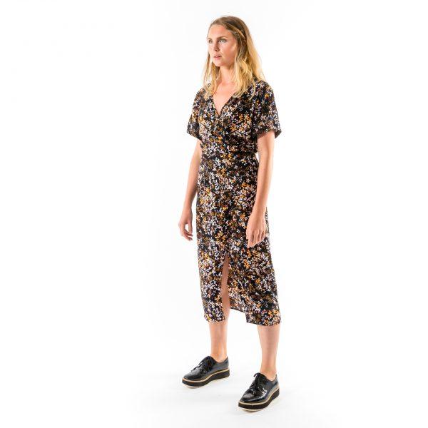 Kim Sassen Clothing Wrap Dress Print Front Side