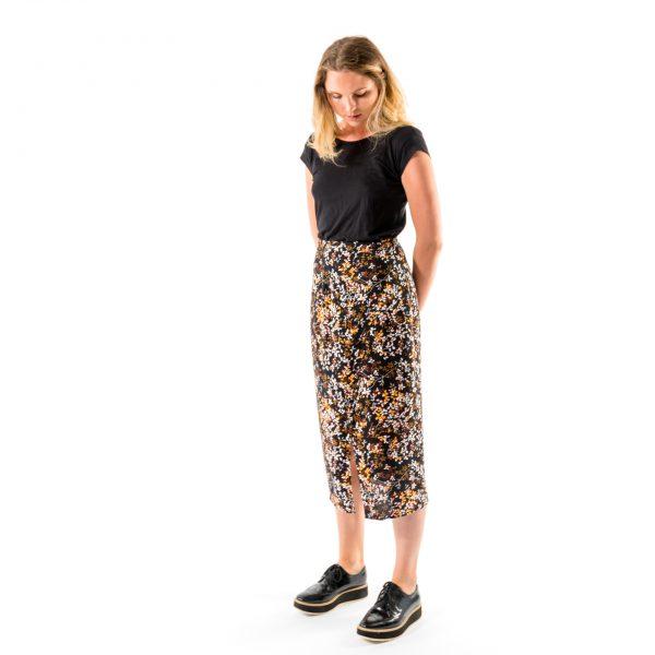 Kim Sassen Clothing Wrap Dress Print Front Side Alt