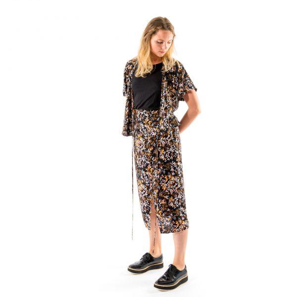 Kim Sassen Clothing Wrap Dress Print Front Side Alt2