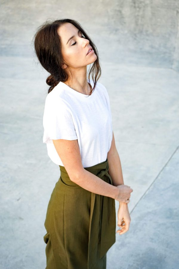 Kim Sassen Clothing Hemp T-Shirt White Front