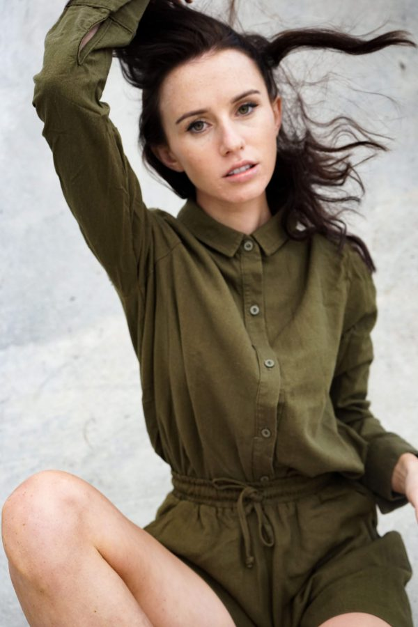 Kim Sassen Clothing Shirt Olive Front Full
