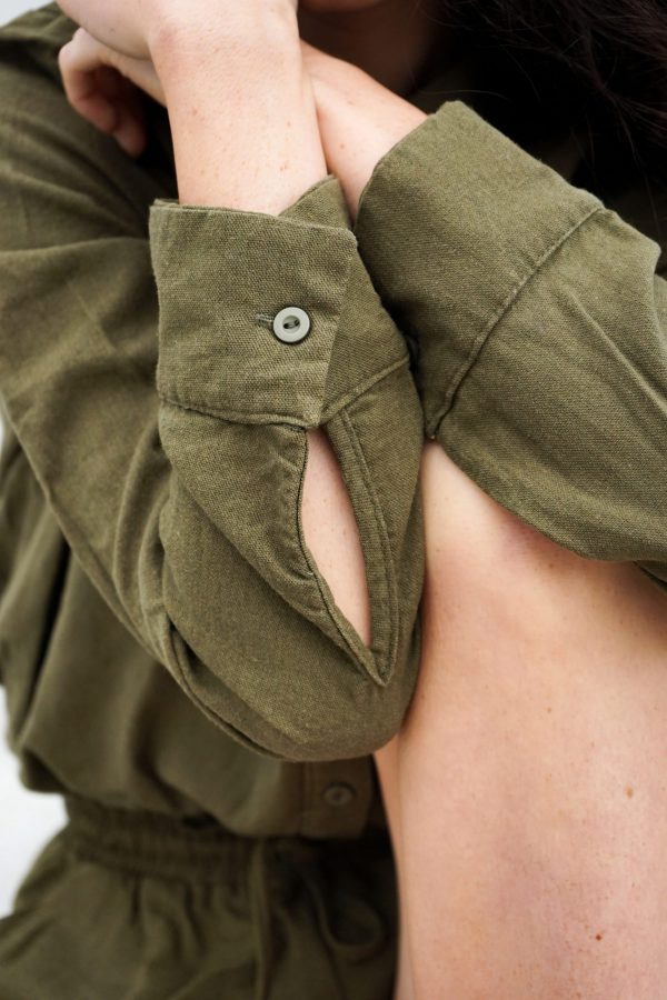 Kim Sassen Clothing Shirt Olive Front