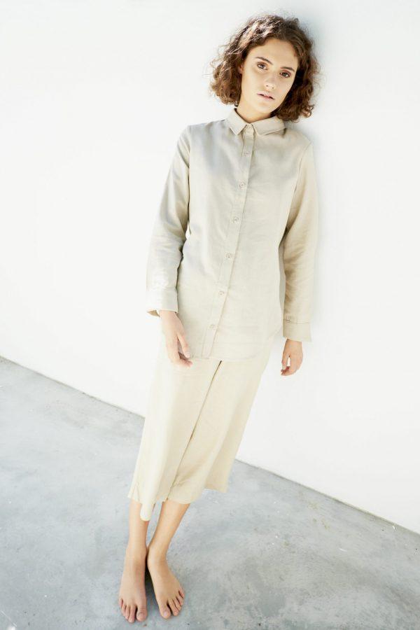 Kim Sassen Clothing Shirt Stone Front