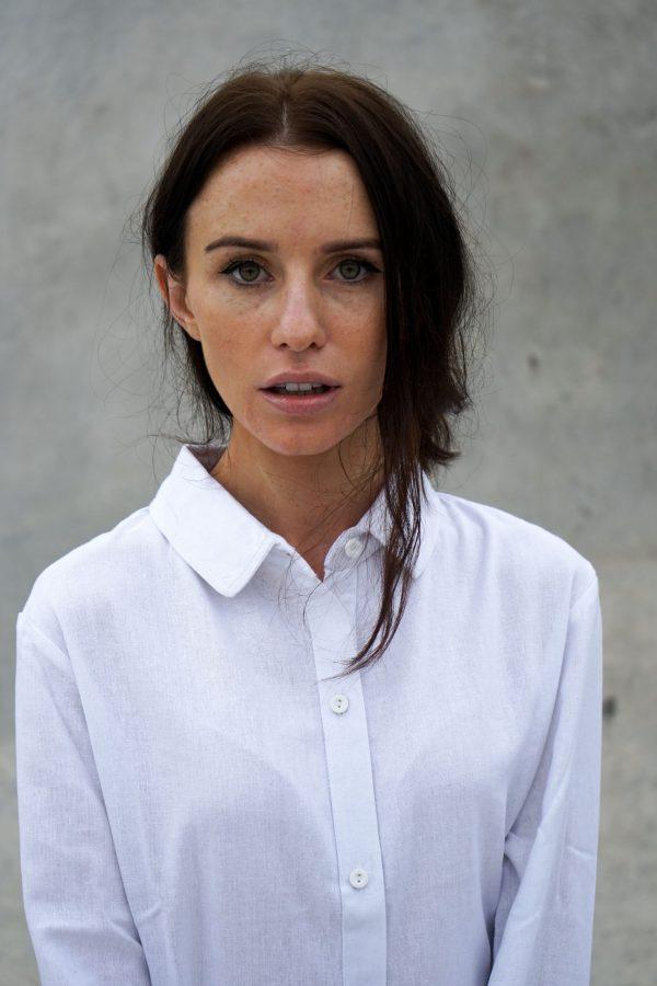 Kim Sassen Clothing Shirt White Front Close